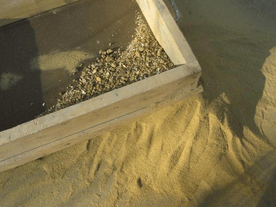 Сеяный карьерный песок