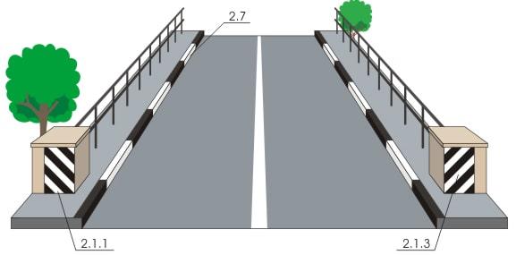 Вертикальная дорожная разметка 1
