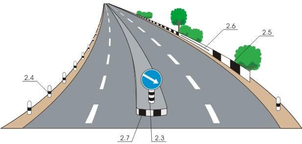 Вертикальная дорожная разметка 2