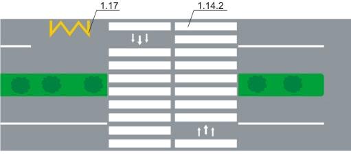 горизонтальная дорожная разметка 2